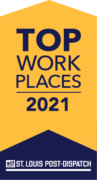 Top Workplaces 2021 St. Louis Post-Dispatch Badge